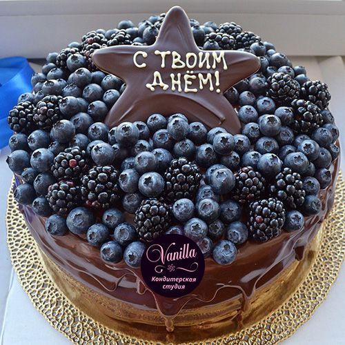 Торт с фруктами для мужчины