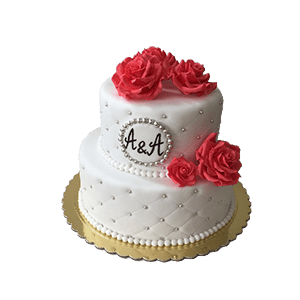 Торт из мастики свадебный двухъярусный фото